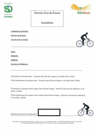 inscription navette tour france